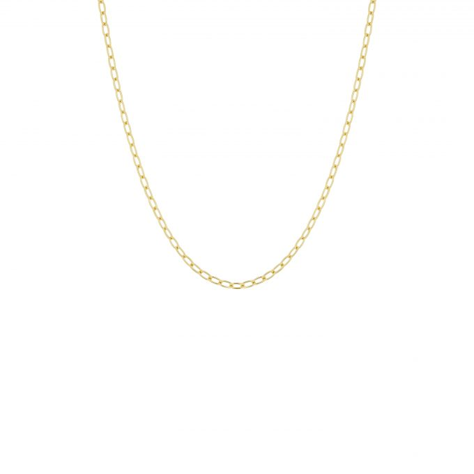 Oval Link Necklace Goldplated