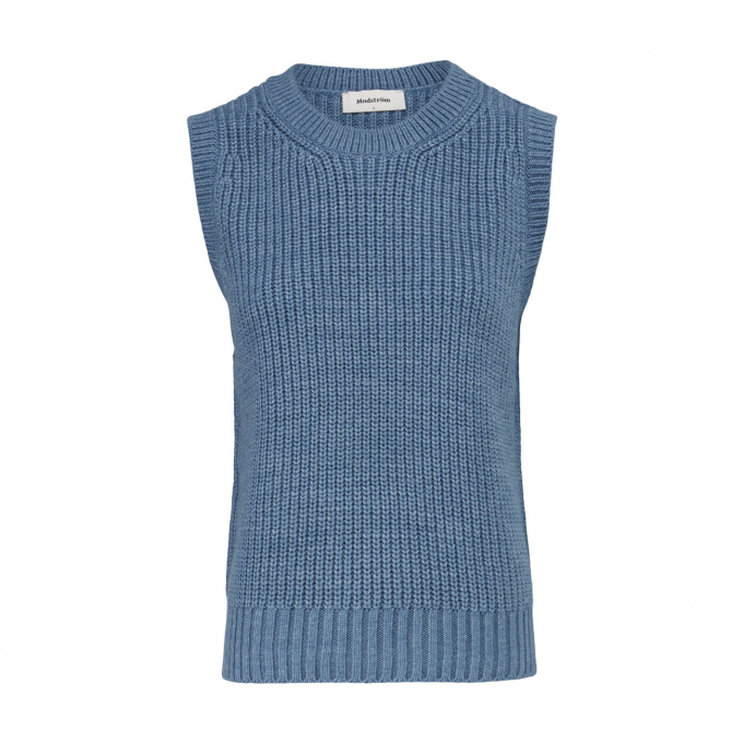 Timme Vest - Chambray Blue