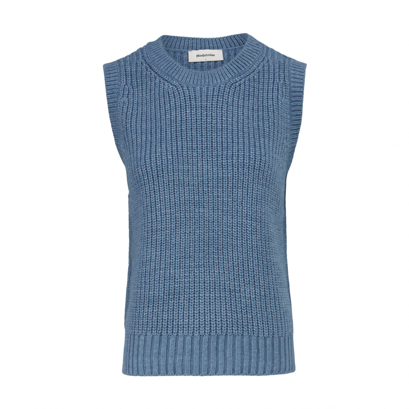 Timme Vest - Chambray Blue