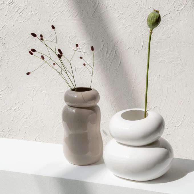 Vase Pebbles Gray Morn