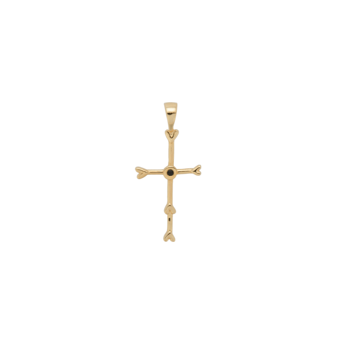 Cross My Heart Necklace Charm Goldplated