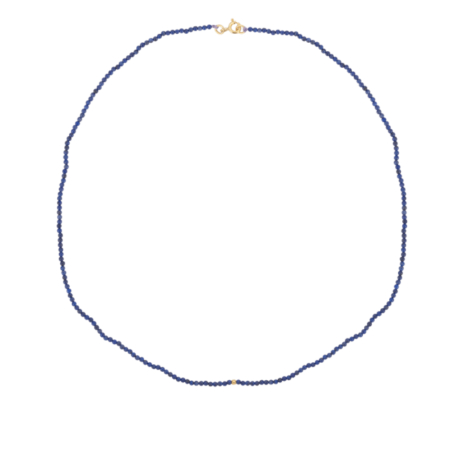 Dolores Beaded Necklace Lapis Goldplated