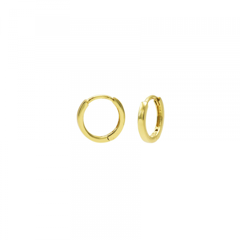 Plain Hinged Hoops Goldplated 12MM