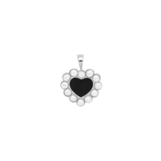 Forbidden Love Necklace Charm Silver