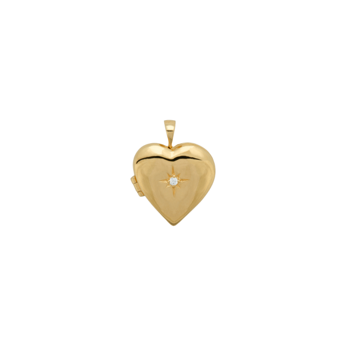 Heart of Gold Necklace Charm Goldplated