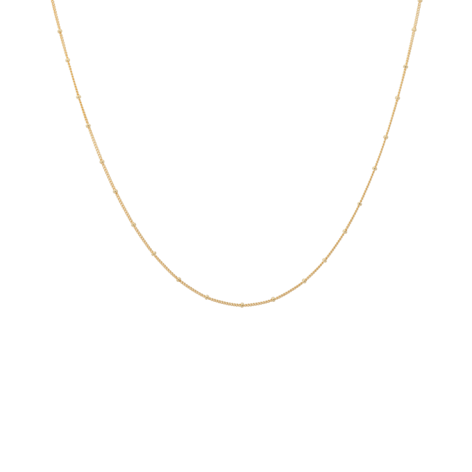 Kahlo Plain Necklace XS Goldplated