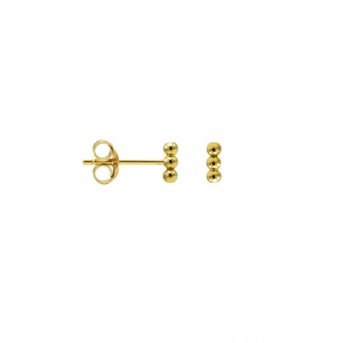 Karma Symbols 3 Dots Tube Goldplated