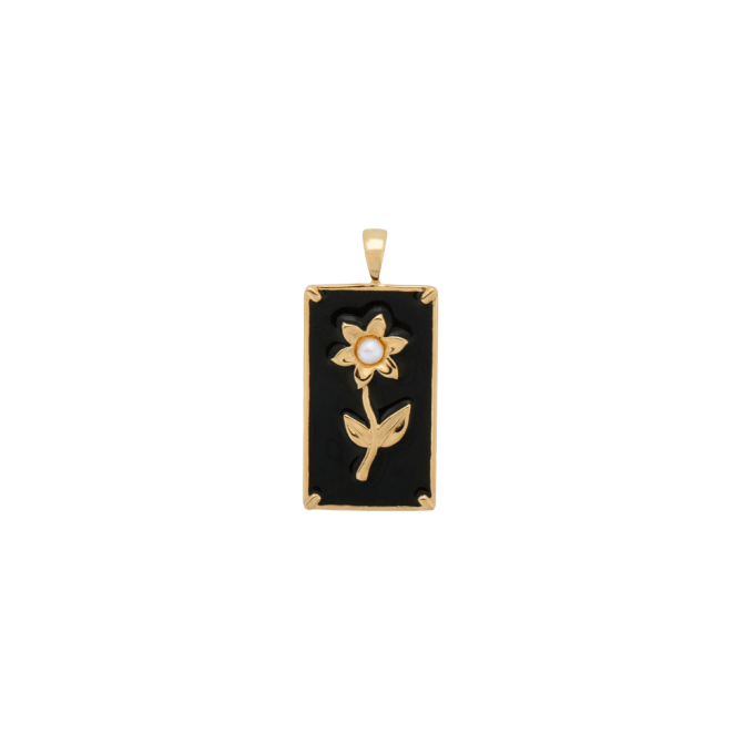 Marigold Flower Necklace Charm Goldplated