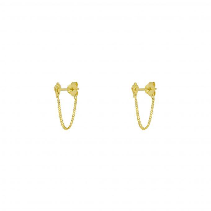 Ornamental Chain Studs Goldplated