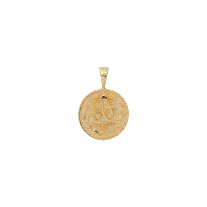 Peso Coin Necklace Charm Goldplated