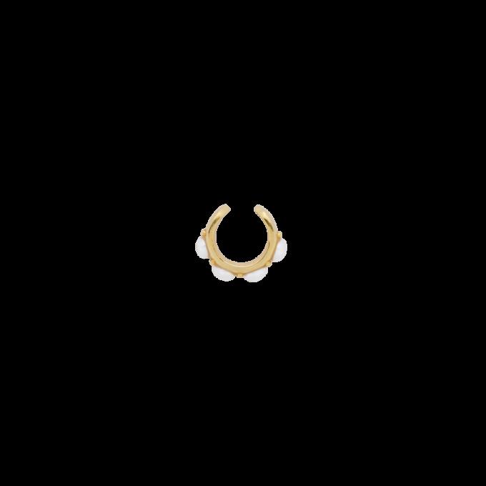 Single Devine Pearl Ear Cuff Goldplated