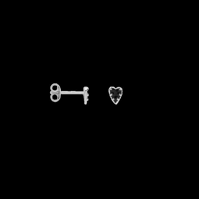 Single La Muerta Heart Stud Earring Silver