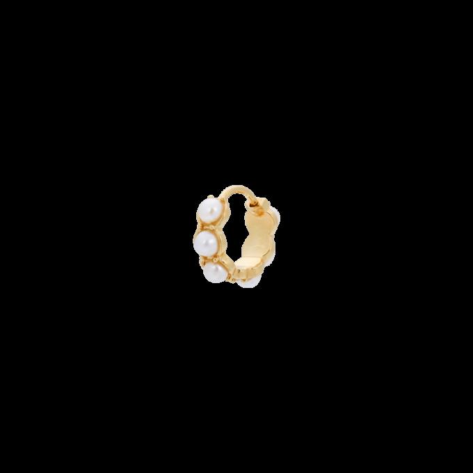 Single La Perla Ring Earring Goldplated