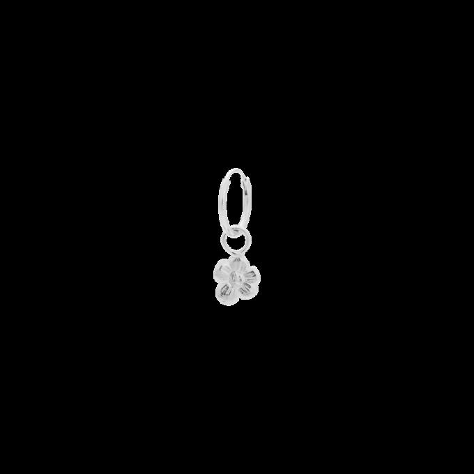 Single Soul Flower Ring Earring Silver