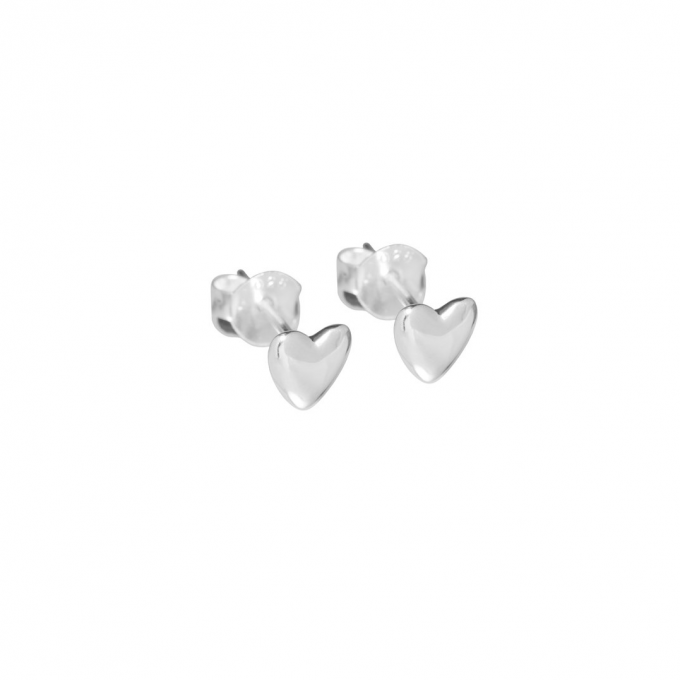 Small Heart Studs Zilver