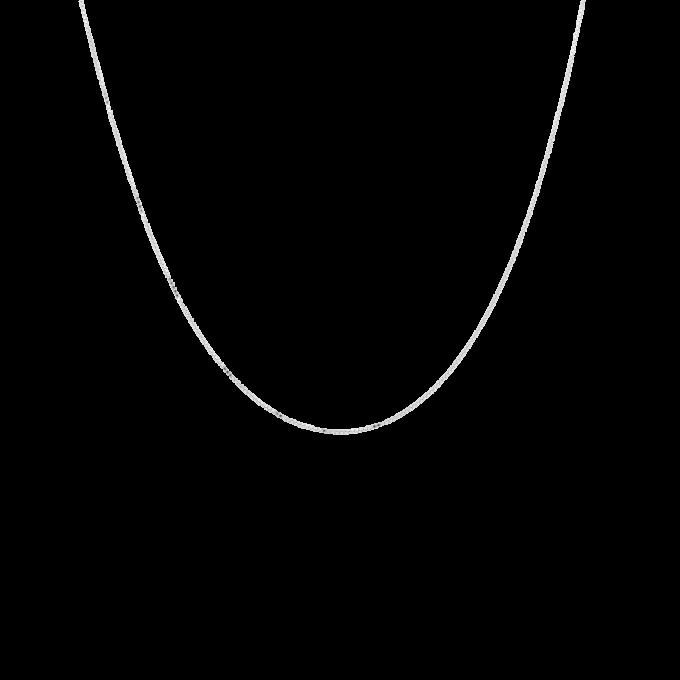Square Plain Necklace Short Silver