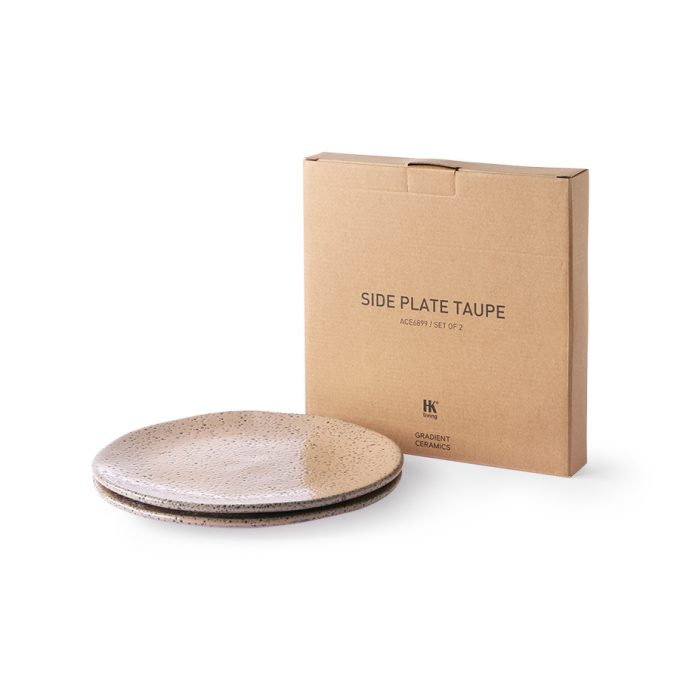 Side Plate Taupe (set of 2)