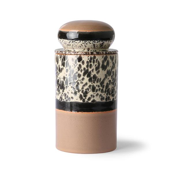 70s Ceramics Storage Jar Tropical