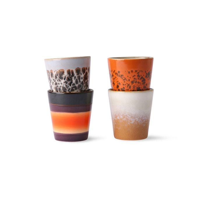 70s Ceramics Ristretto Mugs (set of 4)