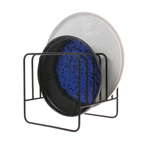 Metal Wire Plate Rack Matt Black