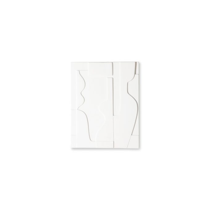 ceramic wall art panel matt white