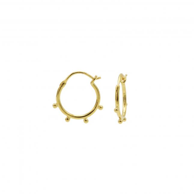 Hoops Symbols Solid 4 Dots Goldplated