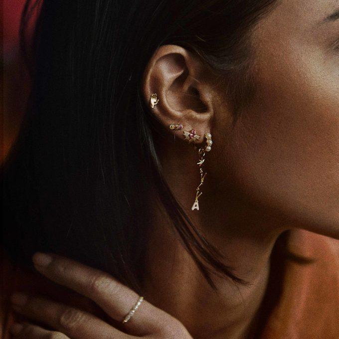 Single La Perla Ring Earring Silver