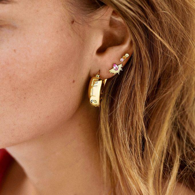Single Freedom Stud Earring Goldplated