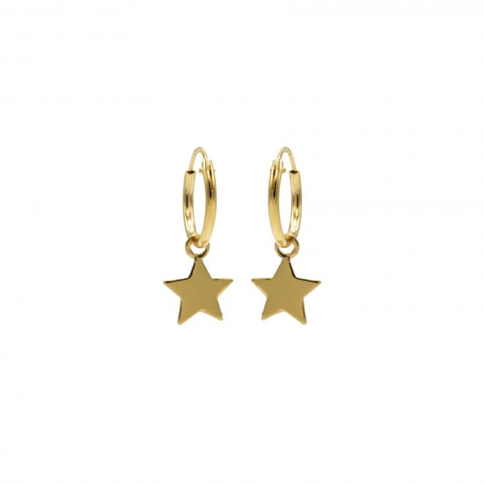 Hoops Symbols Star Goldplated