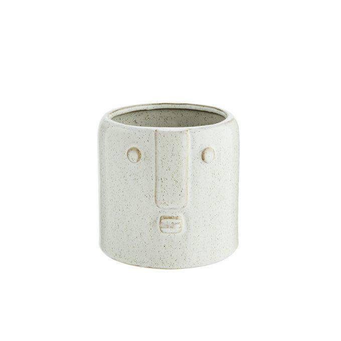 Stoneware Pot With Face Imprint