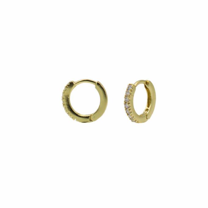 Plain Zirconia Hoops 12MM goldplated