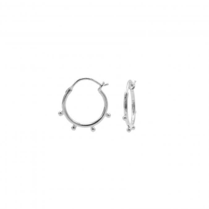 Hoops Symbols Solid 4 Dots Zilver