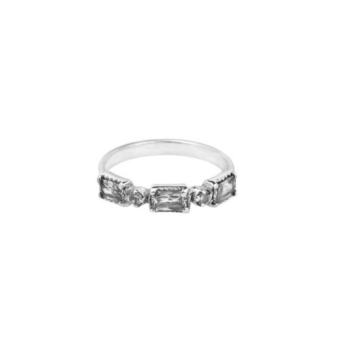 Diamond Ring Silver