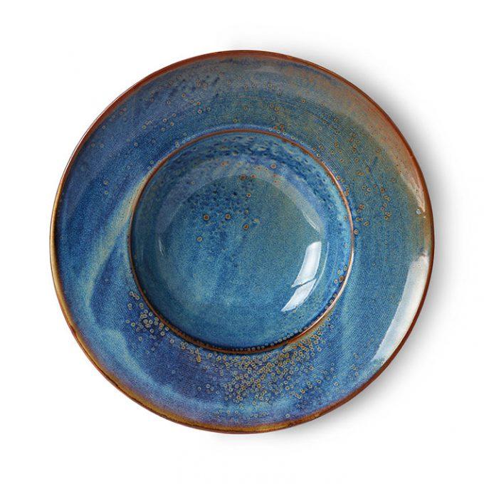 Home Chef Ceramics: Pasta Plate Rustic Blue