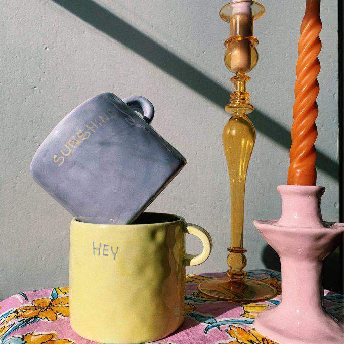 Sunshine Mug in Lavender