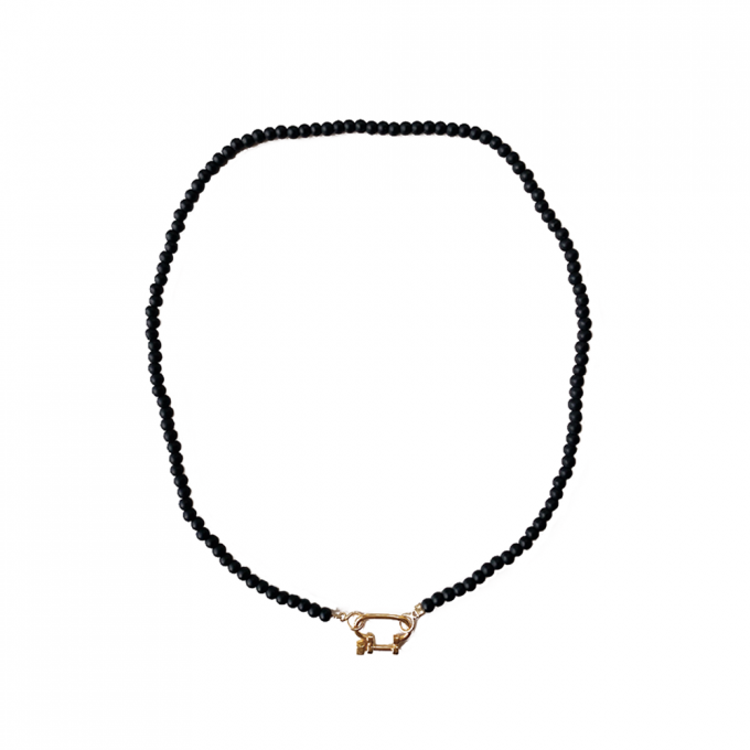 Connecter Onyx Necklace Goldplated