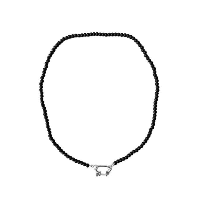 Connecter Onyx Necklace Silver