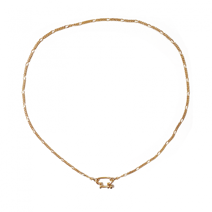 Connector Figaro Necklace Goldplated