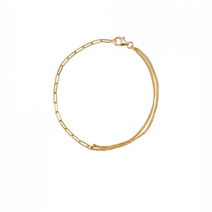 Bracelet Double chain Gold plated