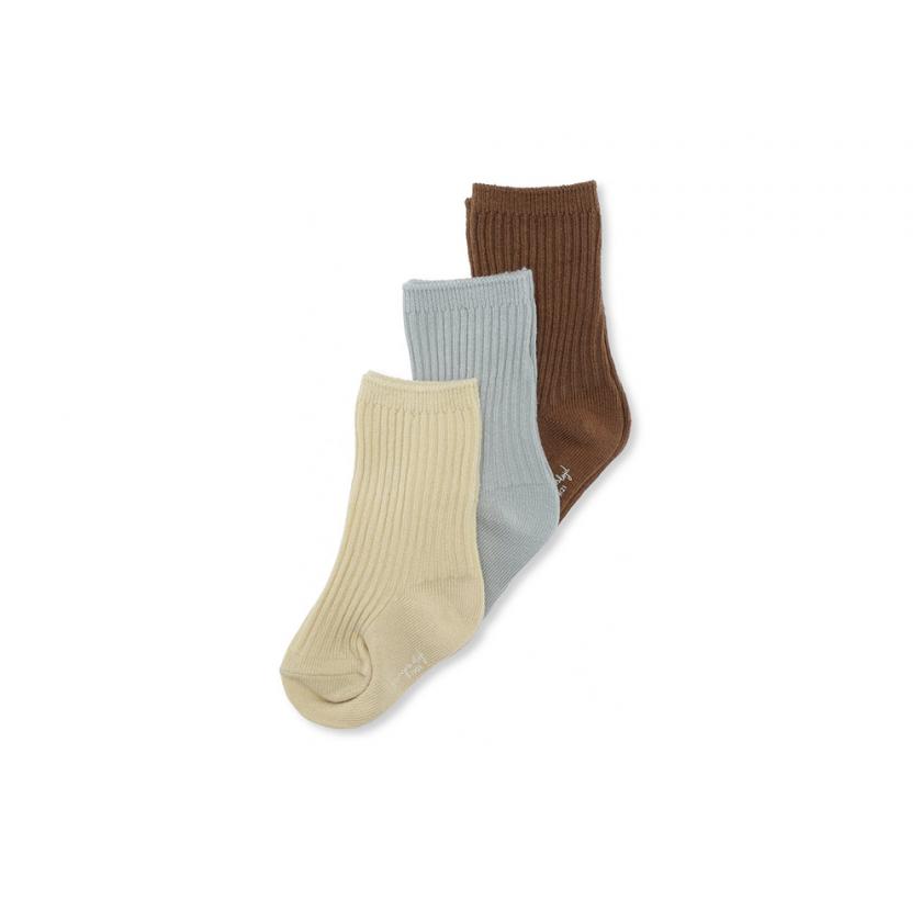 3 Pack Rib Socks Breen/Mint/Sahara
