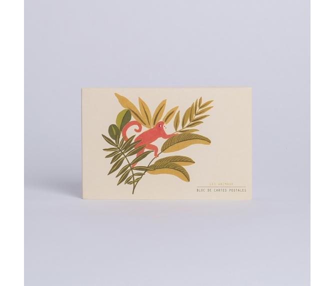 Postcard Set Les Animaux