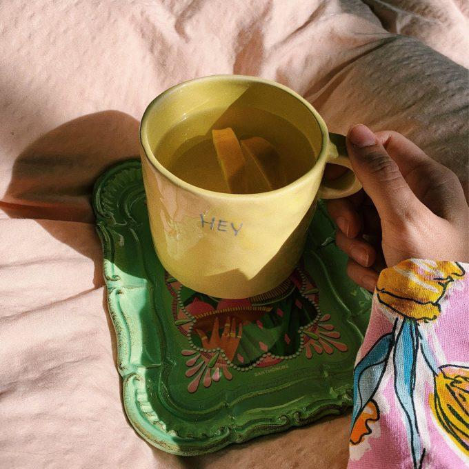 Hey Mug in Lemonade Yellow