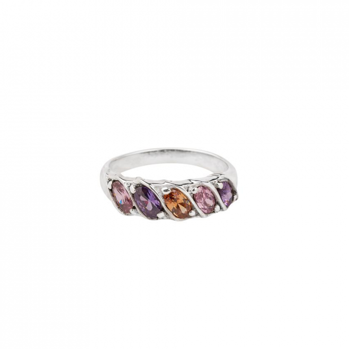 Rainbow Ring Silver
