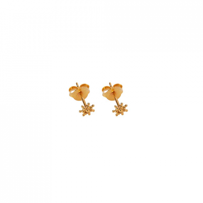 Tiny dots stud Goldplated