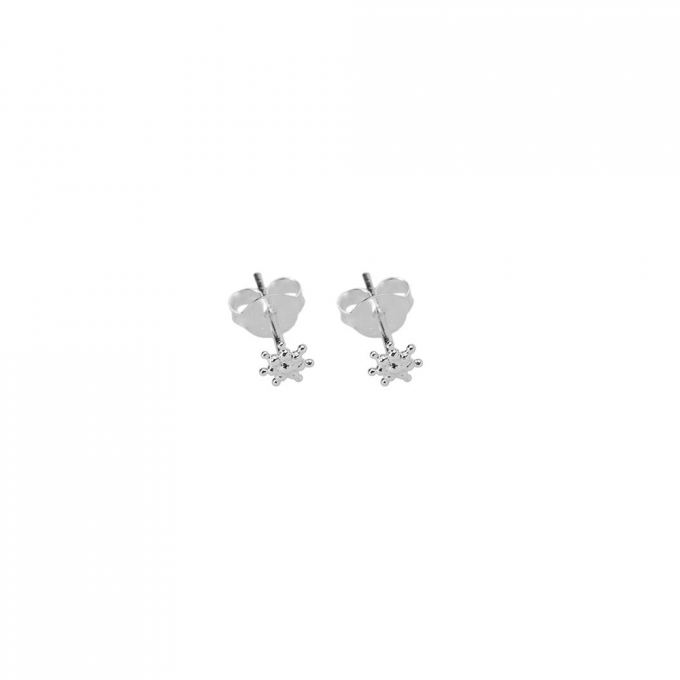 Tiny dots stud Silver