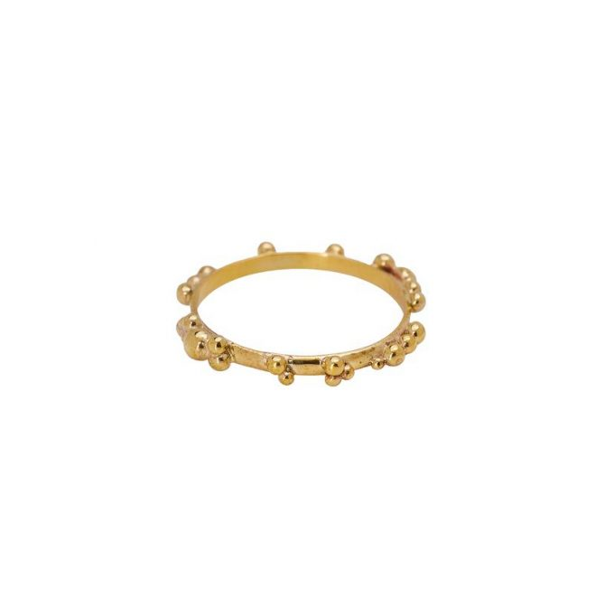 Tiny Dots Ring Brass
