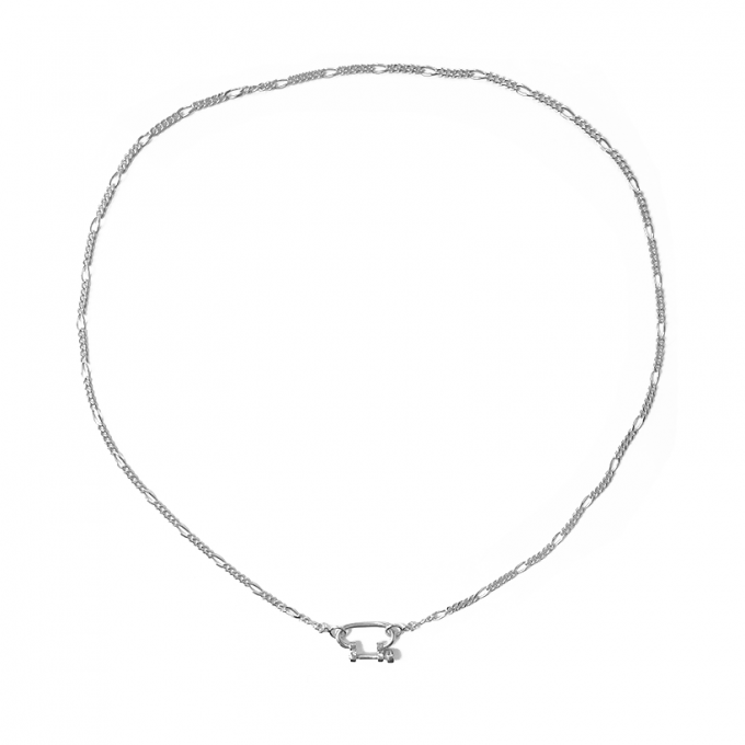 Connector Figaro Necklace Silver