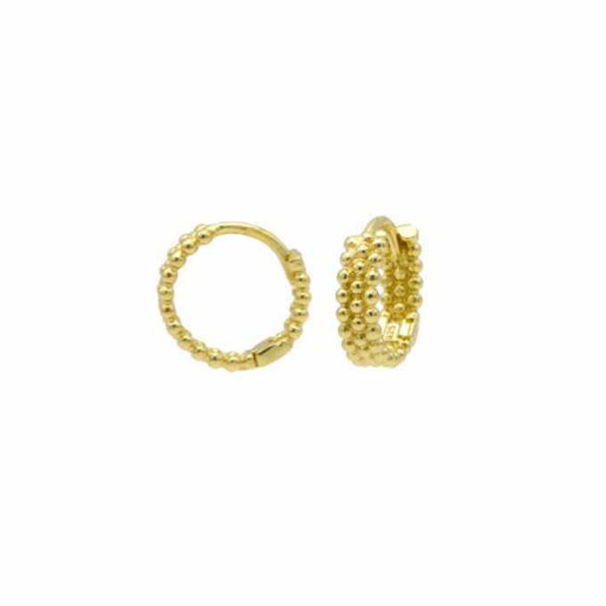 Plain Hoops Braided Goldplated