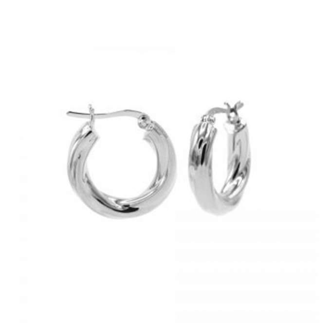 Plain Tube Hoops Silver