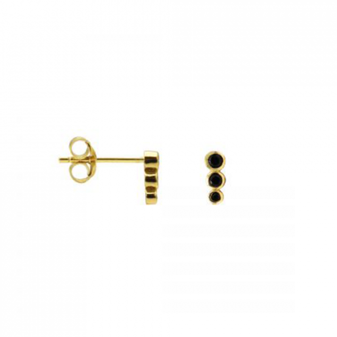 Zirconia Symbols Dotty Row Goldplated